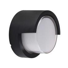 V-TAC VT-831 7W wall light warm white 3000K round black body IP65 waterproof - sku 8609