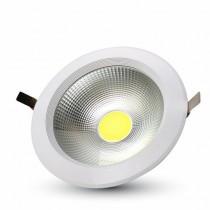 Faro LED COB da incasso V-TAC rotondo 20W 120° Alta Luminosità 2400LM 120° Φ167mm VT-26201 - SKU 1273 Bianco Caldo 3000K
