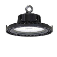 Lampes Industrielles LED 100W High Bay UFO Driver Meanwell 13.000LM Haute Lumens Corps Noir IP44 VT-9117 - SKU 5586 Blanc froid 6400K