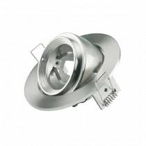 V-TAC VT-700S portafaretto orientabile zoom fitting incasso rotondo nickel satinato per lampade gu10-gu5.3 - SKU 3690