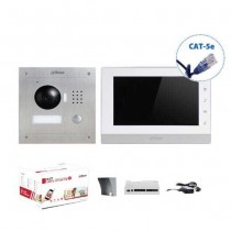 "Kit Video Intercom 7"" Touch IP UTP CAT.5E Single Family color videophone 1.3Mpx 720p Dahua VTO2000A-VTH1550CH"