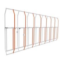 CAME 803XA-0350 Mannshohes Gitter aus lackiertem aluminium 172cm langes und 130cm hohes modul mit Verbindungsbeschlägen