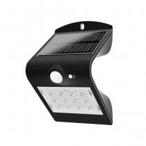 V-TAC VT-767-2 lampada LED 1,5W pannello solare esterno IP65 + sensore PIR colore nero - SKU 8277