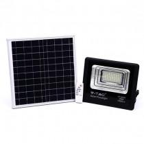 V-TAC VT-60W Projecteur solaire LED 60W avec télécommande IR blanc neutre 4000K Corps noir IP65 - 8575