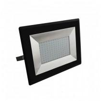 V-TAC VT-40101 100W LED floodlight ultra slim e-series cold white 6500K black body IP65 - SKU 5966