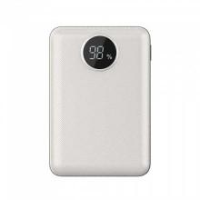 V-TAC VT-3501 Power Bank 10.000mah Digital display 2 output micro USB 2.1A abs white body - sku 8187