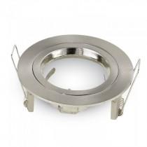 V-TAC VT-774 Portafaretto incasso alluminio rotondo nickel satinato TWIST TO OPEN per lampade GU10-GU5.3 - SKU 3643