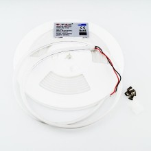 V-TAC VT-55 Led neon flex striplight 10W/M chip samsung SMD 12V 5M ultrasottile bianco naturale 4000K IP65 - sku 327