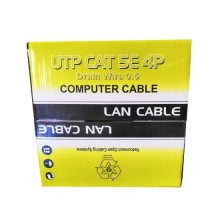 305mt utp lan coil cable cat 5E 4x2 AWG 24 cca PVC iso/iec