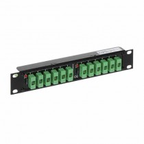 "Power Supply Distributor 12/24V - 12output x 1A Rack 10"""