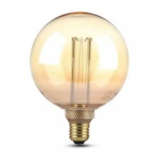 V-Tac VT-2185 4W LED ART bulb globe amber glass filament E27 G125 warm white 1800K - 7475