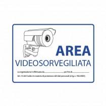 Targa pvc interni/esterni zona videosorvegliata cctv 210x150mm laminato resistente UV