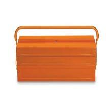Cestello estendibile a cinque scomparti in lamiera vuoto colore arancione Beta C20L