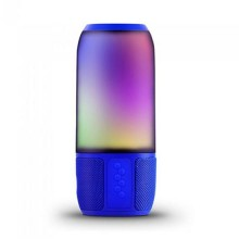 V-TAC SMART HOME VT-7456 6W LED-Licht Bluetooth-Lautsprecher mit USB-e-TF-Kartensteckplatz blau Körper IP20 - sku 8569