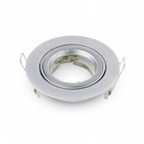 V-TAC VT-775 Portafaretto incasso rotondo orientabile TWIST TO OPEN grigio metallico per lampade GU10-GU5.3 VT-775 - SKU 3647