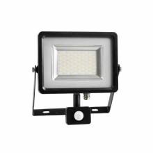 20W Projecteur LED Sensor Corps SMD - Noir Mod. VT-4820PIR - SKU 5697 - Blanc Chaud 3000K