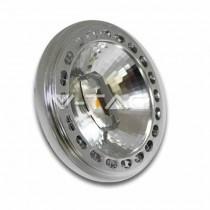 LED SPOTLIGHT AR111 15W 12V BEAM 40° SHARP CHIP MOD. VT-1110 SKU 4256 Day White 4000K