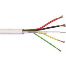 Câble vidéo composite microcoaxial + MICROCOAX 75Ω + 2x0.50 + 2x0.22 Vidéosurveillance CCTV made in Italy 100 mètres