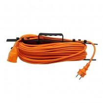 V-TAC VT-3002-30 power extension cord outdoor garden schuko 16A EU standard cable orange 30m IP44 - sku 8815