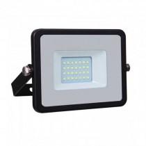 V-TAC PRO VT-20 Projecteur LED 20W slim noir Chip Samsung SMD blanc chaud 3000K  - SKU 439