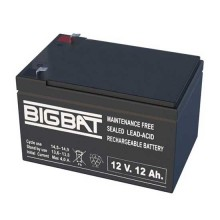 12V 12Ah rechargeable VRLA battery Elan BigBat - sku 01210