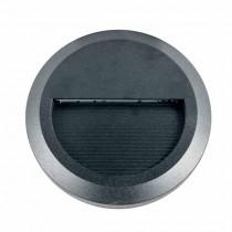 V-TAC VT-1142-B Lampada applique LED 2W parete segnapasso bianco caldo 3000K rotondo nero IP65 - SKU 1317