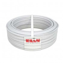 Cavo allarme schermato 2X0,50+6X0,22 in rame guaina in PVC bianco M1 antifiamma 100MT Elan - sku 025061