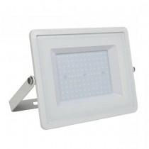 V-TAC PRO VT-106 Faro led 100W slim alluminio bianco chip Samsung SMD alta luminosità bianco freddo 6400K - SKU 769