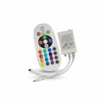 Controller infrarosso IR striscia LED RGB con telecomando 24 tasti Mod. VT-2472