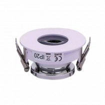 V-TAC VT-873 Portafaretto incasso rotondo orientabile bianco con interno cromato per lampade GU10-GU5.3 - SKU 3160