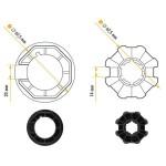 NICE 515.07000 Adapters series Era M Ottagonale 70x (1 ÷ 1.5) size Ø 45 mm wheel + crown