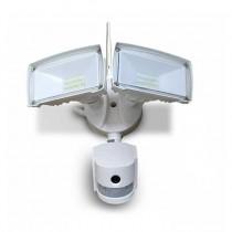 V-Tac VT-4818 18W led floodlight with wifi camera and pir sensor cold white 6400K white body IP44 - sku 5745