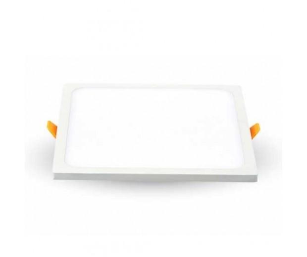 V-TAC VT-1515SQ Pannello LED Trimless Series da incasso quadrato 15W bianco caldo 3000K + Driver - SKU 4946
