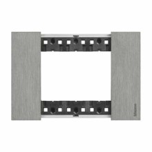 3 modules Bticino Living Now plate steel color KA4803ZG