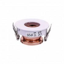 V-TAC VT-873 Plafond Rond blanc+or rose réglable 15° twist to open pour Spotlights LED GU10-GU5.3 - SKU 3159