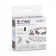 V-TAC Smart Home VT-5050 Kit striscia 300led rgb smd5050 WiFi ip20 dimmable gestione smartphone - sku 2583