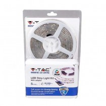 KIT bande LED V-TAC SMD5050 300LED RGB étanche IP20 + contrôleur IR + alimentation - SKU 2353