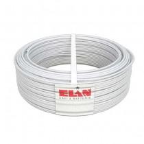 Cavo allarme schermato 2X0,50+4X0,22 in rame guaina in PVC bianco M1 antifiamma 100MT Elan - sku 025041