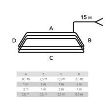 Spira magnetica per il rilevamento di masse metalliche perimetro 6MT LDC06