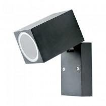 V-TA VT-7611 Portalampada Wall Light alluminio satinato nero 1xGU10 ruotabile IP44 - sku 7553