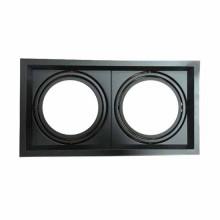 Portafaretto incasso alluminio quadrato orientabile 2xAR111 Mod. VT-7222-Nero