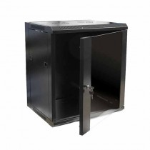 "Hanging Rack Cabinet Black RAL9004 19"" 12U 450mm"