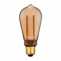 V-Tac VT-2185 4W LED ART bulb candle Amber glass filament E27 warm white 1800K - 7474