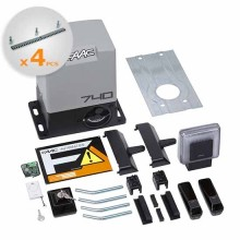 FAAC DELTA2 KIT automation for sliding 500KG 230V + 4M Galvanized Rack