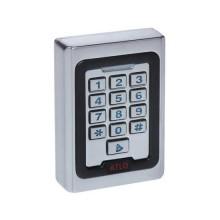 Autonomes Code-Schloss 12V für Innen mit RFID-Lesegerät - Silber Metall IP40