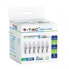 KIT Super Saver Pack V-TAC VT-2246 6PCS/PACK Lampadine LED candela SMD 5,5W E14 bianco freddo 6400K - SKU 2738