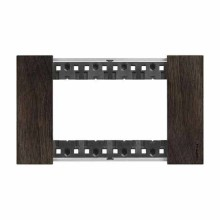 4 modules Bticino Living Now plate wood walnut color KA4804LG