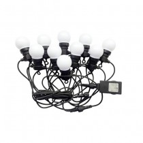 V-TAC VT-71020 0,5W bulb led string light cold white 6000K connectable PIN 10M with bulb eu plug - sku 7440
