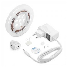 Set LED-Streifen Bedlight V-TAC SMD2835 2.8W 260LM 1.2M mit PIR-Sensor-Einzelbett Dimmbar VT-8067 – SKU 2549 neutralweiß 4000K
