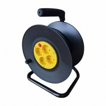 V-TAC VT-6003 25M Extension Cord Reel EU standard with outlets 4 Schuko 16A Overload Protector - sku 8782